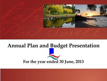 Annual Plan & Budget Presentation 2012-2013 - Latrobe Council