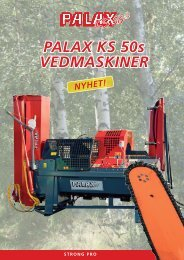 Palax KS 50s-esite 6-siv SWE - NOA Maskin AS