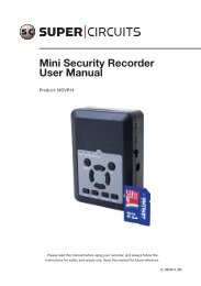 Mini Security Recorder User Manual - Supercircuits Inc.