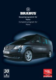 Gesamtprogramm für Viano Complete program for Viano - Brabus