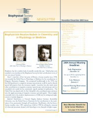 November/December - Biophysical Society