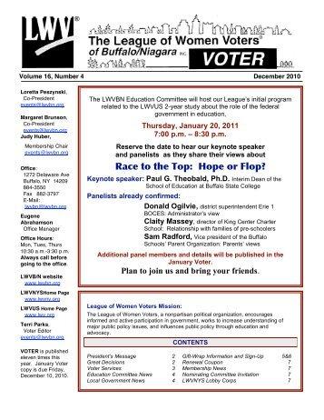 December - League of Women Voters of Buffalo Niagara