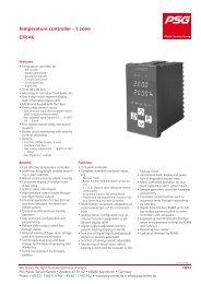 Temperature controller - 1 zone ETR 46 - PSG Plastic Service GmbH