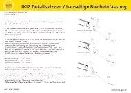 IKIZ Detailskizzen / bauseitige Blecheinfassung
