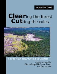 Cutting the rules Clearing the forest - Ecojustice