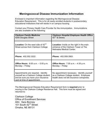 Meningococcal Meningitis Form - Wesley College