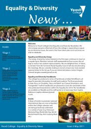 Equality & Diversity News - Yeovil College