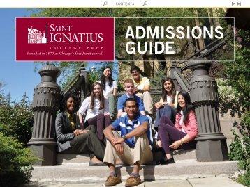 ADMISSIONS GUIDE - St. Ignatius College Prep
