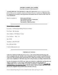 CSPA's settlement agreement - California Sportfishing