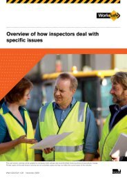 Overview of how inspectors deal with specific ... - WorkSafe Victoria
