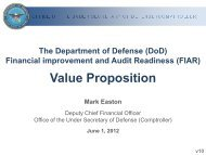 (FIAR) Value Proposition…or Why do we really need - PDI 2012