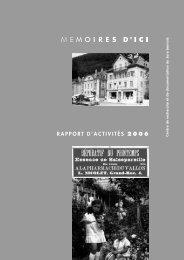 Rapport d'activité 2006 - Mémoires d'Ici