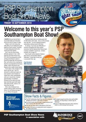 PSP Southampton Boat Show News