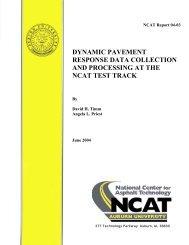 dynamic pavement response data collection and ... - Auburn University