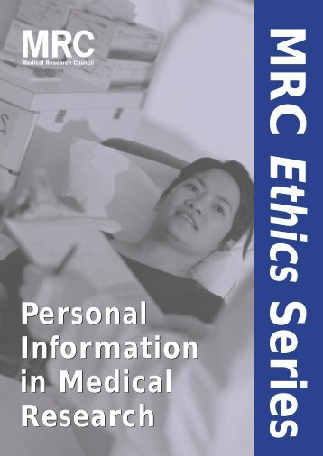 Personal Information in Medical Research - NIHR CRN CC