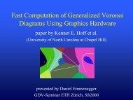 Fast Computation of Generalized Voronoi Diagrams ... - ETH Zürich