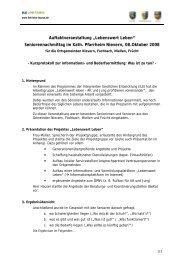 "Auftaktveranstaltung ""Lebenswert Leben"" - ILE | Region Lahn-Taunus"