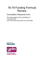 16-19 Funding Formula Review - The Association of National ...