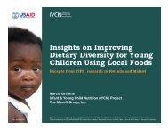 Insights on improving dietary diversity for young children using local ...