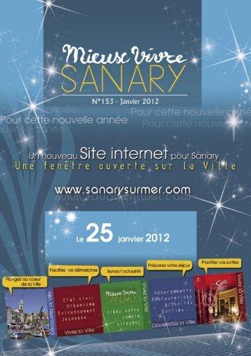 Mieux Vivre N°153 - Janvier 2012 (.pdf - 2,50 Mo) - Sanary-sur-Mer