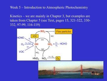 Week 5 – Introduction to Atmospheric Photochemistry Kinetics – we ...