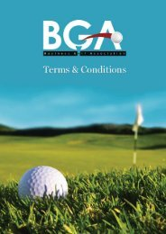 Terms of Service - Business Golf Association