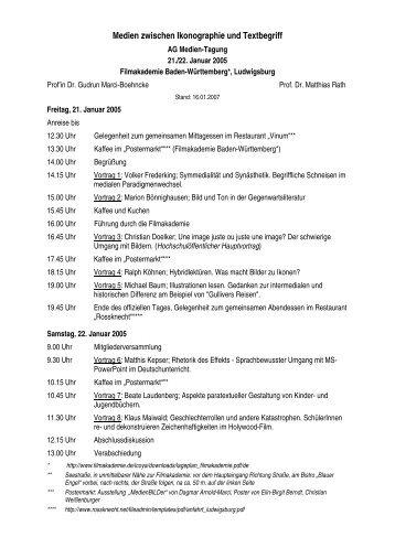 Programm und Abstracts - AG-Medien
