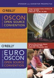 sponsor and exhibitor prospectus - Conferences - O'Reilly Media