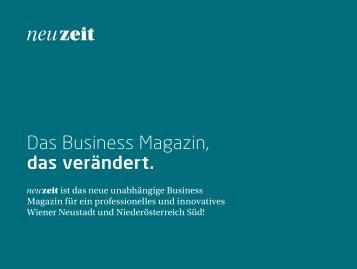 Broschüre + Mediadaten - neuzeit - Das Business Magazin