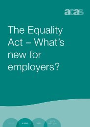 The Equality Act – What's new for employers? - ANHOPS