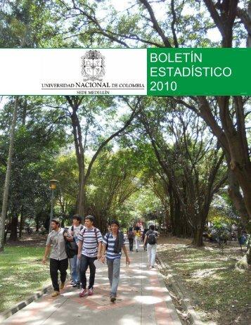 BOLETÍN ESTADÍSTICO 2010 - Universidad Nacional