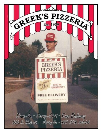 Dine-In • Carry-Out • Free Delivery - Greek's Pizzeria