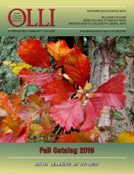 Fall Catalog 2010 - BerkshireOLLI.org