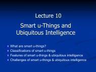 Smart u-Things and Ubiquitous Intelligence