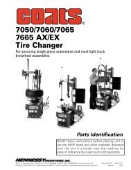 7050/7060/7065 7665 AX/EX Tire Changer - aesco