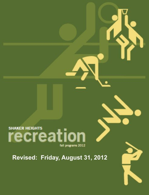 Fall recreation brochure - City of Shaker Heights