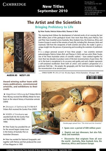 The Artist and the Scientists - Cambridge University Press