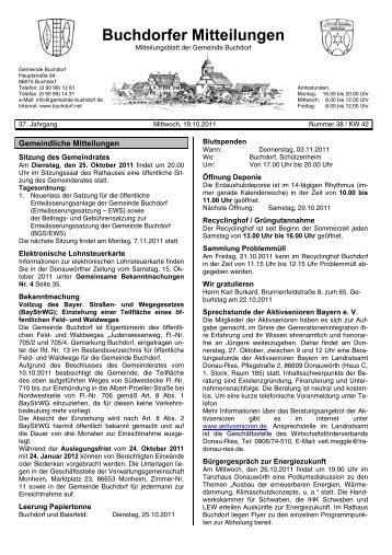 Buchdorfer Mitteilungen