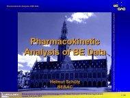 Pharmacokinetic Analysis of BE Data - BEBAC • Consultancy ...