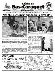 L'Écho de Bas-Caraquet octobre 2012 - Canadamunicipal.ca