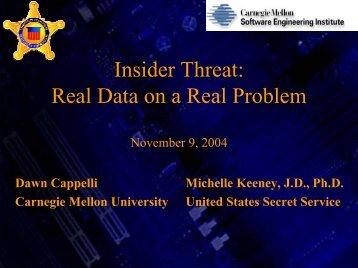 National Threat Assessment Center Robert A. Fein, Ph.D ... - Cert