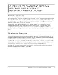 Guidelines for Conducting American Red Cross ... - Instructor's Corner