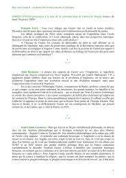 Texte du débat - Académie des sciences morales et politiques