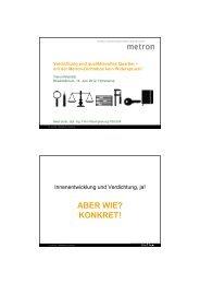 metron dichtebox - Vision Rheintal