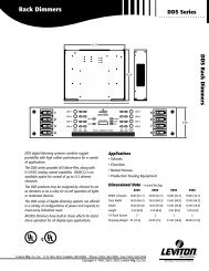 Rack Dimmers - Full Compass