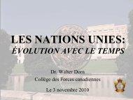 de la Société des Nations - Dr. Walter Dorn