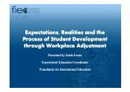 Expectations, Realities and the Process of Student Development ...