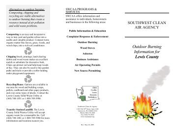 Outdoor Burning Information for Lewis County - Southwest Clean Air ...