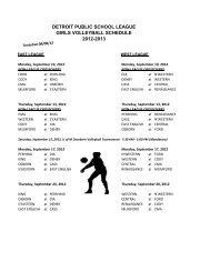 detroit public school league girls volleyball schedule 2012-2013