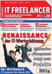 Projekte - IT Freelancer Magazin
